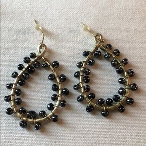 Boutique Black and Gold Earrings NWOT